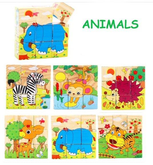 بازل الحيوانات والطيور للاطفال