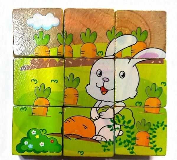 بازل خشبى 9 قطع - العاب بازل للأطفال