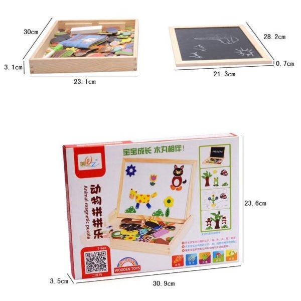 لعبة السبورة المغناطيسية لتعليم الاطفال الكتابة والرسم