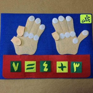 لعبة العد على الاصابع لتعليم الطفل