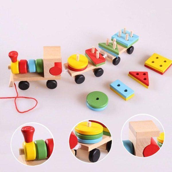 لعبة قطار الاشكال الهندسية للطفل