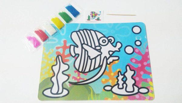 التلوين بالرمل لوحة ملونة مقاس صغير - رسم وتلوين للاطفال