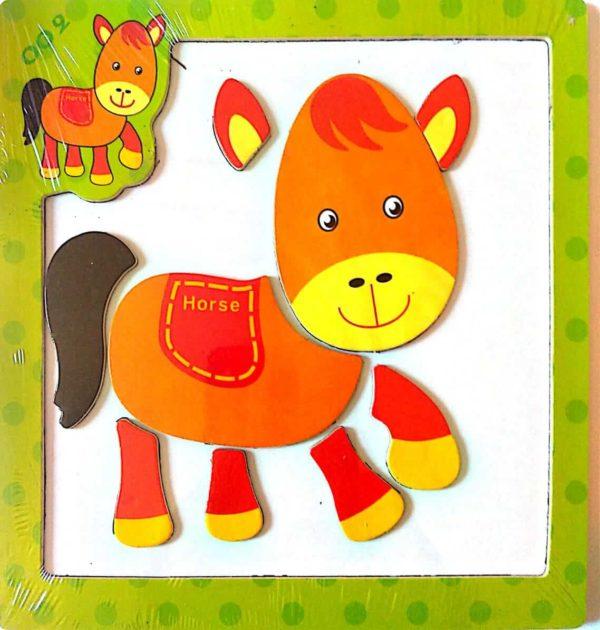بازل السبورة المغناطيسية شكل حصان