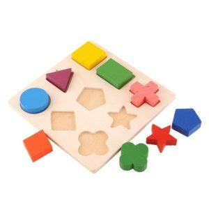 بازل خشبي أشكال هندسية 3فى3 المستوى الأول