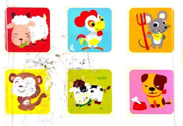 بازل مكعبات 4 قطع يكون 6 أشكال حيوانات