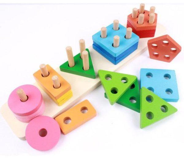 ترتيب الأشكال الهندسية للاطفال